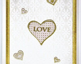 Anniversary Card for Parents - Hearts of Gold