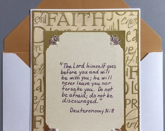 Card of Encouragement - Scripture Included