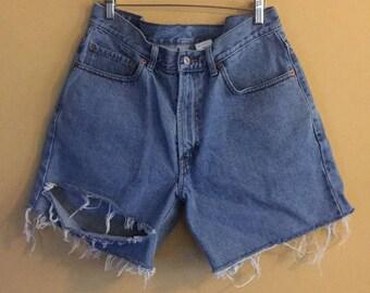 Slouchy high waist Levi bermuda shorts