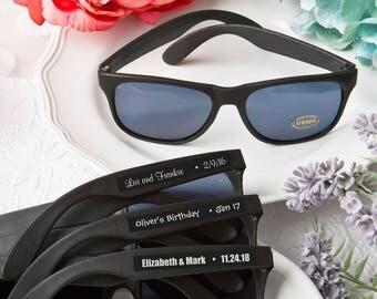 40 Personalized Black Sunglasses - Set of 40