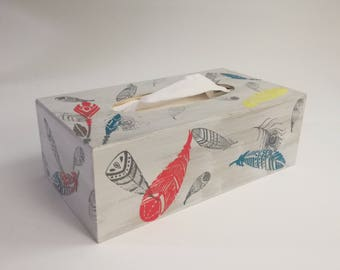 wooden tissue box, box rustic tissue, tissue box