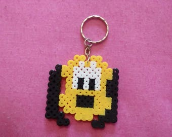 Keychain made of hama beads: Pluto dog Mickey and friends