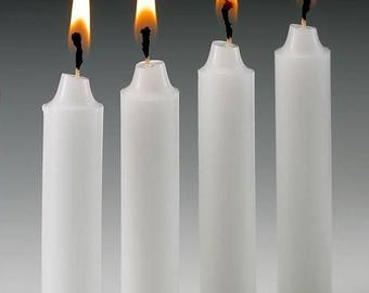 Unscented Taper candle  2 set of 2 White