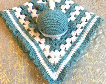 Crochet Baby Set, Whale and Blanket Bundle