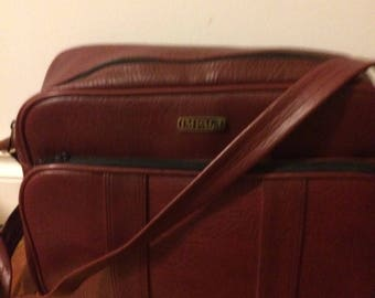 Burgundy Vinyl Messenger Camera Carrier Bag