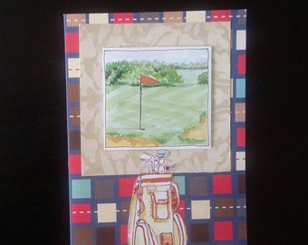 Golf greeting card blank inside