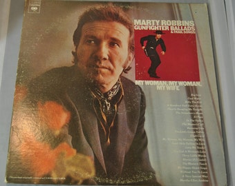 Marty Robbins Gunfighter Ballads & Trail songs 2 album set vinyl record