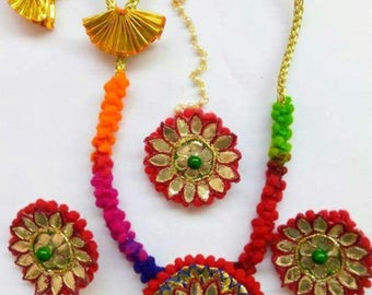 Trendy and colorful Gota Jewellery