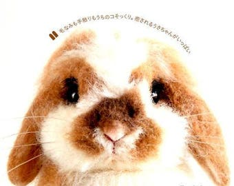 Step By Step Guide/ Needle Felt Rabbit Bunny Patterns Book/ Japanese Craft Book