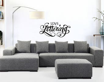calligraphic style wall decoration sticker