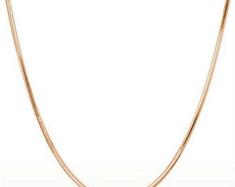 Pink gold color 45 cm chain