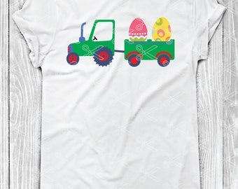 Boy Easter SVG, PNG, DXF, Eps Cutting Files, Easter Tractor Svg, Easter Egg Svg, Tractor Svg, Easter Svg, Kids Easter Svg, Bunny Svg file
