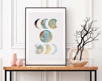 Moon Wall Art moon wall hanging | etsy