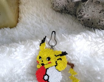 Pikachu and pokeball pin