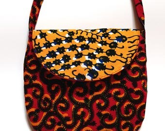 African wax fabric pouch