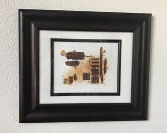 Framed Original Artwork Cast Iron Print