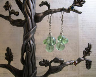 white grape earrings
