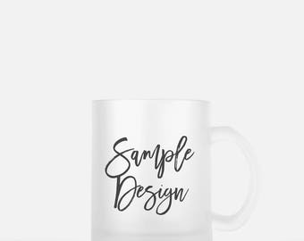 Frosted Personalized Mug