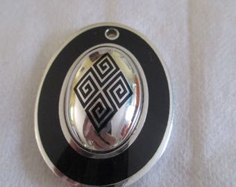"""Sterling Silver 925 and oval resin """"kimono"""" style"""