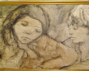 Original Signed Painting By GINO F. HOLLANDER 48X30