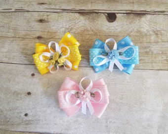 Girls hair bow, baby girl hair accessories, hair bow clip, baby hair accessories, girls hair acessories set of two