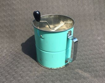 Teal Flour Sifter