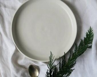 Chalk side plate - satin matt white plate - hand made pottery - hand thrown plate - tableware - dinnerset - small plate - ceramics