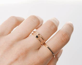 Gold Stacking Ring, Silver ring, Stacking ring, Dainty ring, Delicate ring, R072