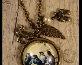 Old - Vintage - necklace - pastoral spirit - bronze