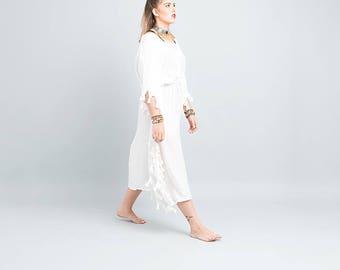 white  kaftan, maxi dress, gallabia