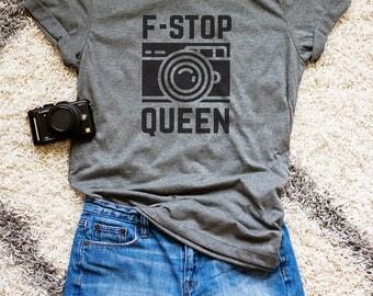 F-Stop Queen Shirt // Photographer Gift // Photographer Shirt // Camera Shirt // F-Stop T-Shirt