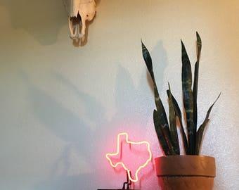 Desktop Texas Border Neon sign