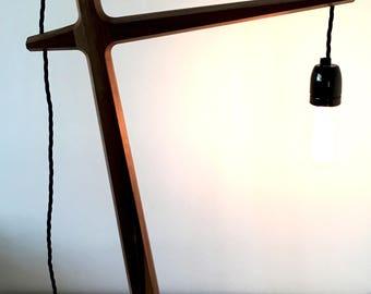 modern bespoke contempoary desk lamp table lamp walnut