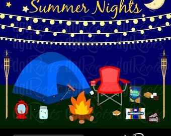 Summer Nights Clip Art