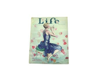 1927 October Life Magazine.  Hearts / Glamour / Fashion / Flapper Girl.