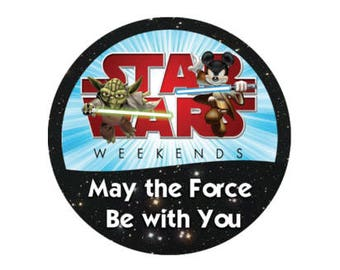 Mickey Mouse and Yoda Star Wars Weekends Button - Star Wars Pin - Disney Star Wars Button - May the Force be With You Button - Disney Pin
