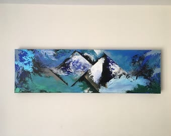 Abstract Canvas 100x30cm