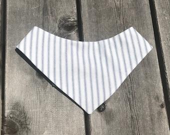 SALE** Sailor Stripes reversible pet bandana/ bow tie