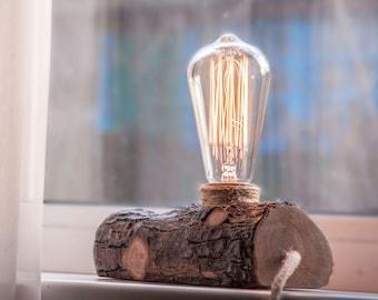 Wood lamp Wooden lamp Log lamp Rustic lamp Bedside lamp Wood lamp natural Wooden table lamp PCB Desk lamp Floor lamp Edison lamp wood light