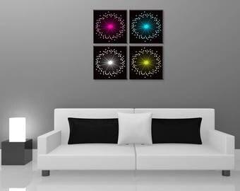 Flower design, painting abstract, digital art