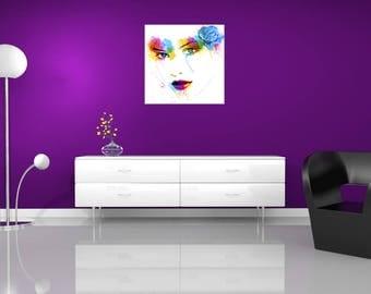 Contemporary light pop art, wall painting, digital painting
