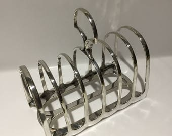 Silver Plate Large Toast Rack by William Hutton & Sons early 1900s