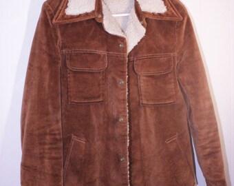 Vintage Sherpa Corduroy Coat Size Small