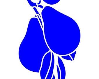 538 Pears stencil