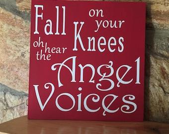 O Holy Night Lyrics Custom Wood Sign