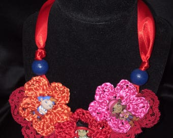 Crochet Girl's Pirate Necklace