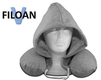 Filoan V Neck Pillow with hood