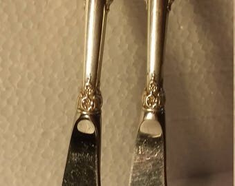 Wallace Grand Baroque Sterling Silver Butter Knives (2)