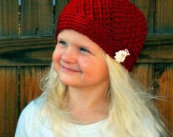 Christmas Hat, Crochet Hat, Trendy Beanie, Trendy Hat, Winter Hat, Winter Beanie, Trendy Girl Hat, Beanie, Girl Hat, Holiday Hat, Beanie