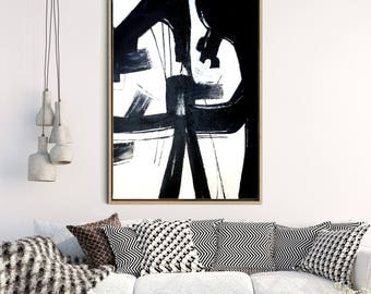 Abstract Wall Art, Abstract Art Print, Black and White Abstract Art, Minimalist Art Print, Home Decor, Wall Decor, Instant Download